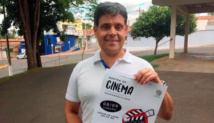 """Reinaldo: """"Evento se chama Zé do Cinema; serão exibidos 22 curtas-metragens"""" (Foto: Assessoria de Imprensa da PMI)"""
