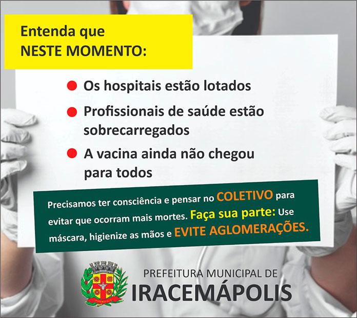 Prefeitura faz alerta a população (Foto: Divulgação)