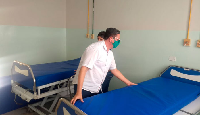 Força-tarefa da Prefeitura criou novos leitos para pacientes que aguardam por vagas em Iracemápolis (Foto: Divulgação)