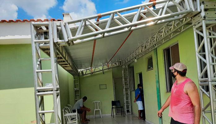 Nova tenda busca oferecer mais conforto aos pacientes com covid-19 no município (Foto: Divulgação)