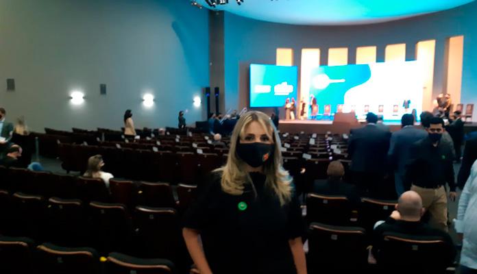 Coordenadora da Promoção Social, Márcia Baldini esteve no Palácio dos Bandeirantes em SP (Foto: Divulgação)