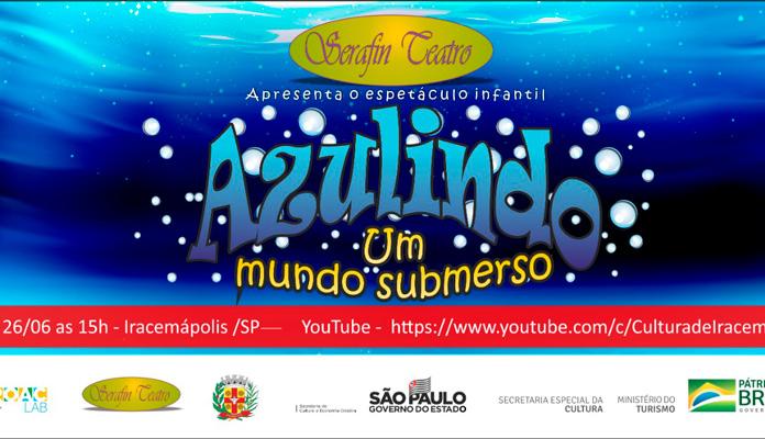 Sábado, dia 26, às 15h, pelo link: https://www.youtube.com/c/CulturadeIracemápolis (Foto: Divulgação)