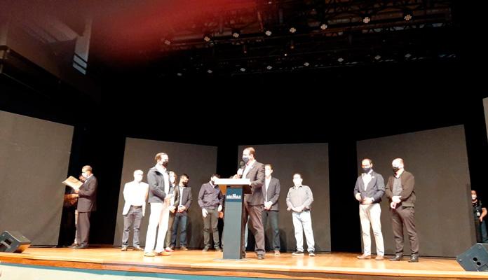 Prefeita Nelita Michel representou Iracemápolis em evento no Teatro do Engenho, em Piracicaba (Foto: Divulgação)