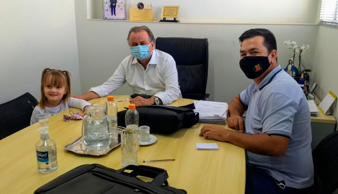 Ralf e Miguel Lombardi se reuniram para trazer verbas para Iracemápolis (Foto: Divulgação)